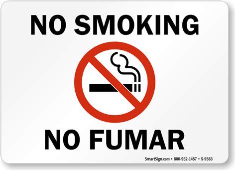 no smoking sign iq bilingual no smoking signs mysafetysign com