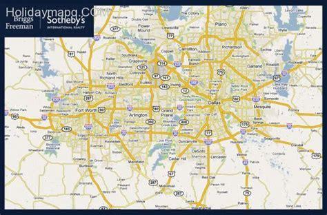 map dallas dallas map map travel holidaymapq