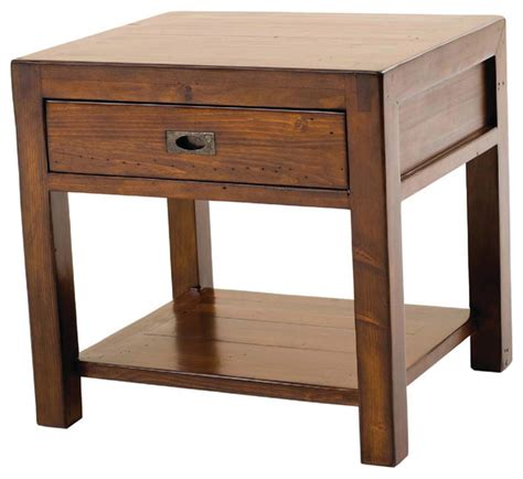 large accent tables post rail large end table farmhouse nightstands and