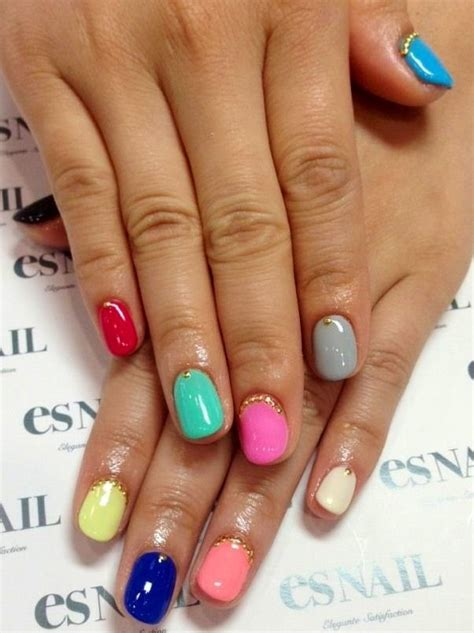 colorful nail colourful nail designs www imgkid the image kid