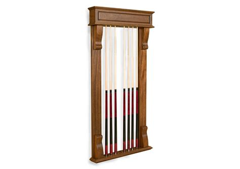 billiard cue wall rack
