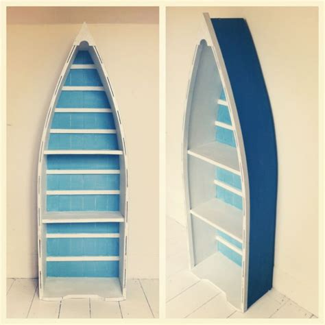 painted boat bookcase casa boats