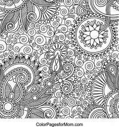 paisley color free coloring pages of advanced paisley