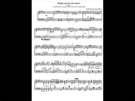 thank you testo thank you for the abba piano