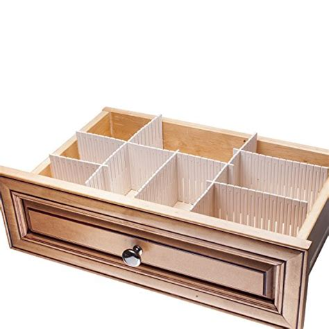 Interlocking Drawer Organizer by Sorbus 174 Customizable Slotted Plastic Interlocking Drawer