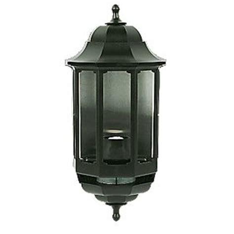 asd black bc pir half lantern wall light pir