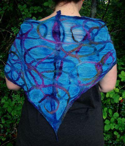 tutorial pashmina wool nuno felt scarf tutorial şallar pinterest crafts