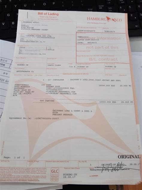 original bill  lading  import  export shipping  shenzhen