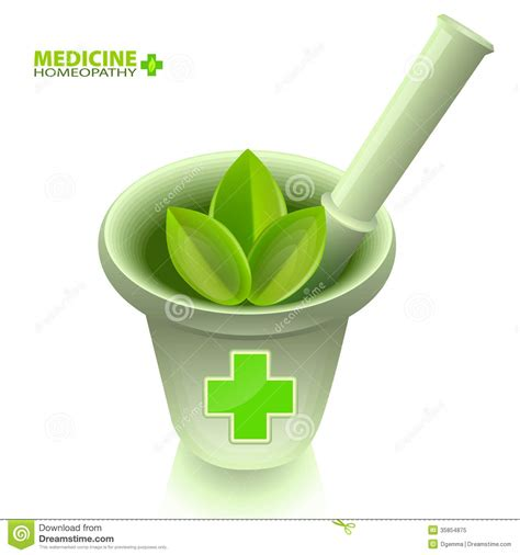 homeopathy treatments by holistic md in dallas fort medical mortar with pestle and a green cross royalty free