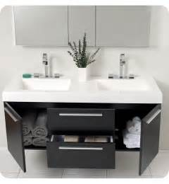 Double sink vanity for small bathroom but still allows for double sink