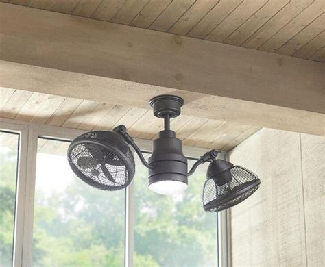 d outdoor dual oscillating gyro ceiling fan led light