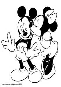 mickey mouse minnie mouse kissing disney coloring