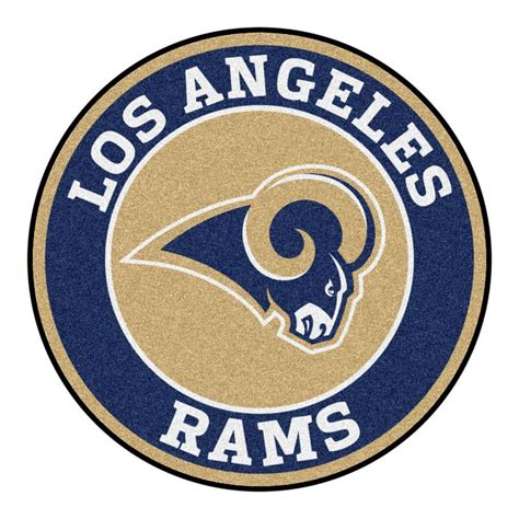 fanmats nfl los angeles rams navy 2 ft 3 in x 2 ft 3 in