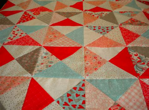 Basic Block Quilt by Quarter Square Triangles A Basic Block With Big Impact