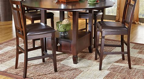landon chocolate 7 pc counter height dining set dining