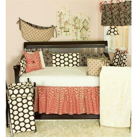 Cotton Tale Designs Raspberry Dot Neutral Dots 4 Piece Cotton Tale Crib Bedding Set