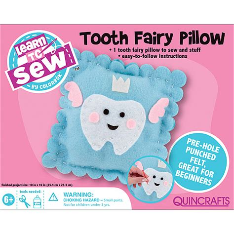 Tooth Pillow Kit quincrafts learn to sew tooth pillow kit walmart