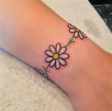 daisy chain wrist tattoo chain tattoos chain