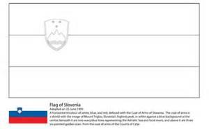 ausmalbild flagge von slowenien kostenlos