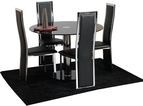 Glass And Metal Dining Table And Chairs Furniture Cool Small Modern Dining Room Decoration Using Modern Black Leather Dining Chair