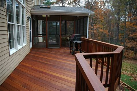 porch deck windsor connecticut ipe deck and screened porch