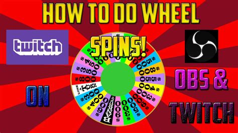 How To Do A Giveaway On Youtube - tutorial how to do wheel spin giveaways on obs and twitch youtube
