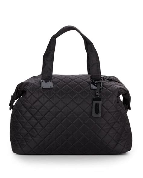 Steve Madden Quilted Bag by Steve Madden Quilted Duffle Bag In Black Lyst