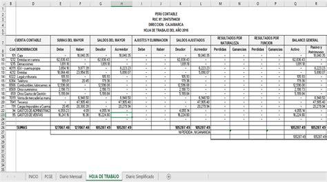 como elaborar hojas de trabajo en excel macro para generar hoja de trabajo y libro diario de