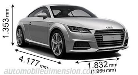 Audi Tt Kofferraum Ma E by Abmessungen Der Audi Autos Mit L 228 Nge Breite Und H 246 He