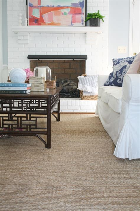 jute rug living room long term love our jute rug emily a clark