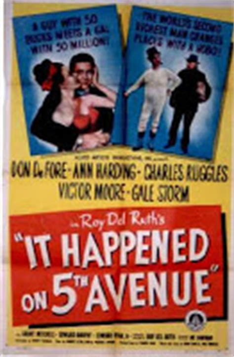 film it happened on fifth avenue laura s miscellaneous musings tonight s movie it