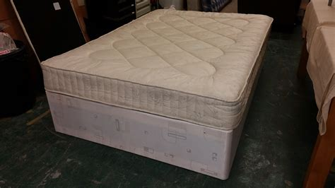 double beds for sale double divan bed with mattress 135x190x37 used furniture