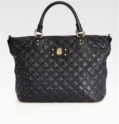 Marc Large Quilted Tote by Marc Harrison New Quilted Tote Bag In Black Lyst