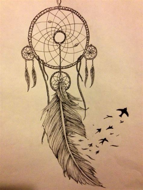 dream catcher tattoo with names in feathers when drawing a dream catcher there are many different