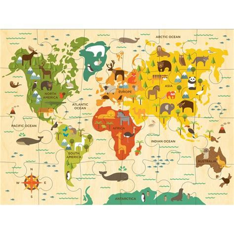 printable world puzzle world map puzzle large floor puzzles for kids petit