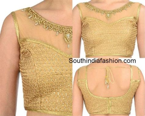 golden colour blouse designs www imgkid the image