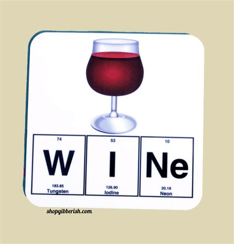 wine science better through chemistry 171 the wine wine science coaster emoji wine glass chemistry periodic