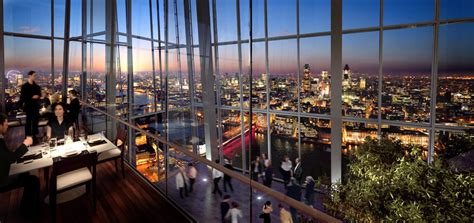 bar at top of shard renzo piano the shard in london opens to public