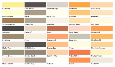 paint color names beige color chart with names pictures to pin on pinterest