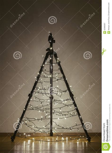 camera tripod christmas tree stock image image of camera