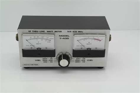 435 meters to second toyo meter t 435 daul band swr meter radioworld