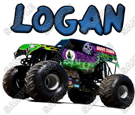 iron on grave digger truck personalized custom t shirt