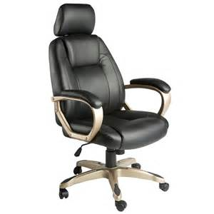 Black Leather Comfy Chair Furniture Black Leather Desk Chair With Silver Arms