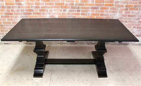 Black Farm Table by Black Wash Dining Table With Venetian Base Ecustomfinishes