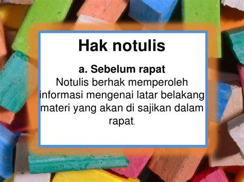 Menulis Notulen Rapat by Notulen Rapat