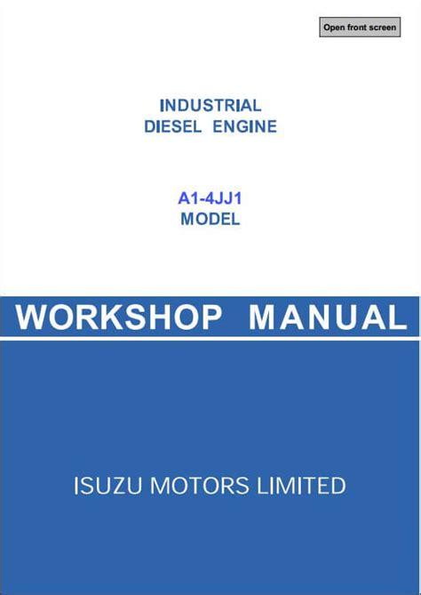 how to download repair manuals 2007 isuzu i series parental controls isuzu a1 4jj1 diesel engine workshop service repair manual a repair manual store