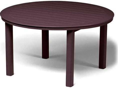 Telescope Casual Marine Grade Polymer 54 Round Dining Marine Dining Table