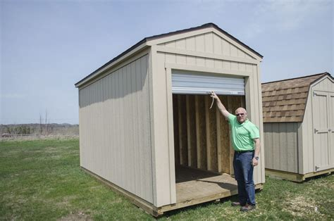 Overhead Shed Door Roll Into Summer With A Brand New Gable Shed With A Roll