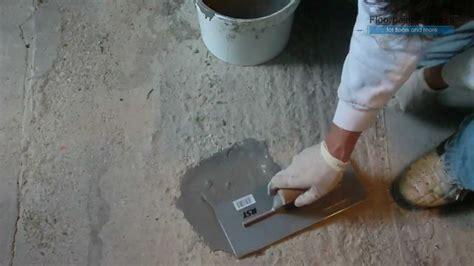 Filling Floor by Patch It Rapid Floor Repair