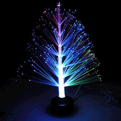 shine your office desk with usb optic fibre christmas tree
